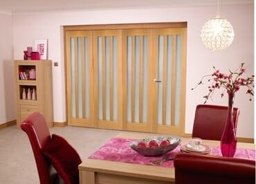 Aston Oak Frosted - 4 Door Roomfold (4 X 2