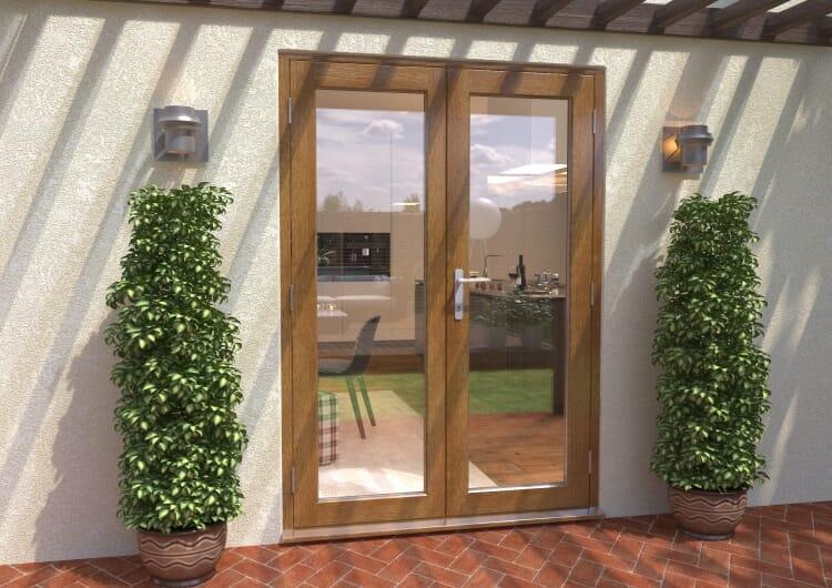 Climadoor Solid Oak French Doors 1500mm Image