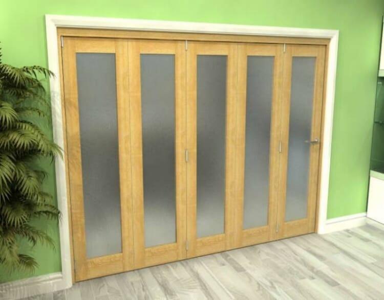 Frosted Glazed Oak 5 Door Roomfold Grande (5 + 0 X 533mm Doors) Image