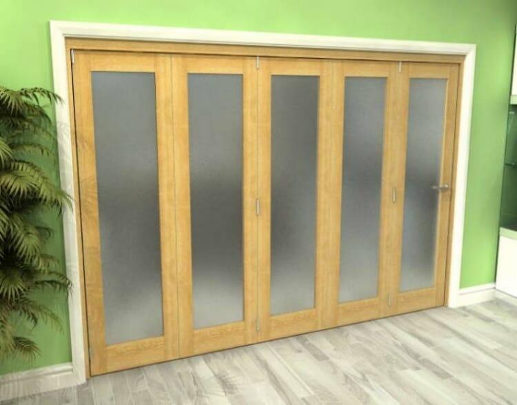 Frosted Glazed Oak 5 Door Roomfold Grande (5 + 0 X 686mm Doors) Image