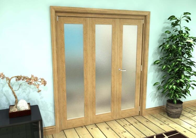 Frosted Glazed Oak Prefinished Roomfold Grande 1800mm (6ft)2 + 1 Set Image