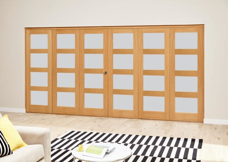 Frosted Prefinished 4l Roomfold Deluxe (3 + 3 X 610mm Doors) Image