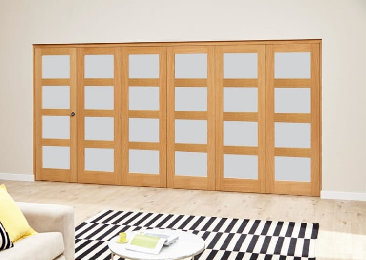 Frosted Prefinished 4l Roomfold Deluxe (5 + 1 X 686mm Doors) Image