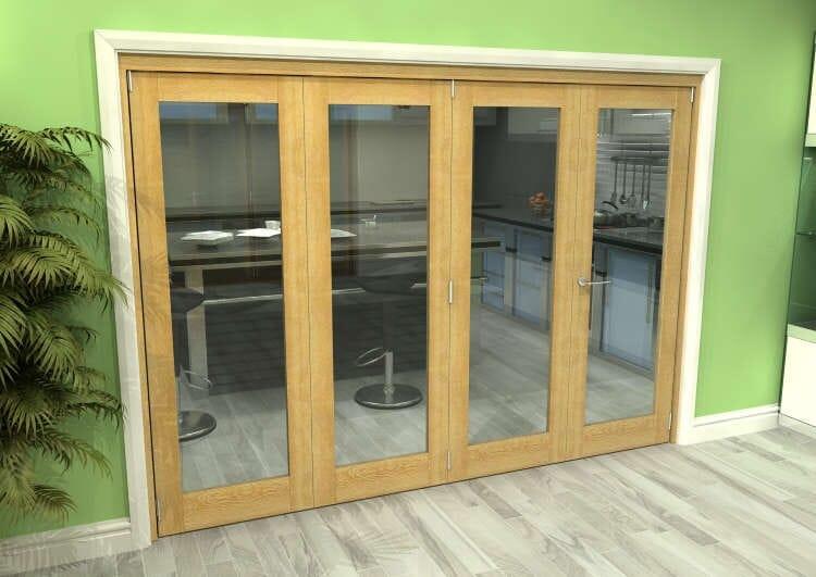 Glazed Oak 4 Door Roomfold Grande (3 + 1 X 686mm Doors) Image