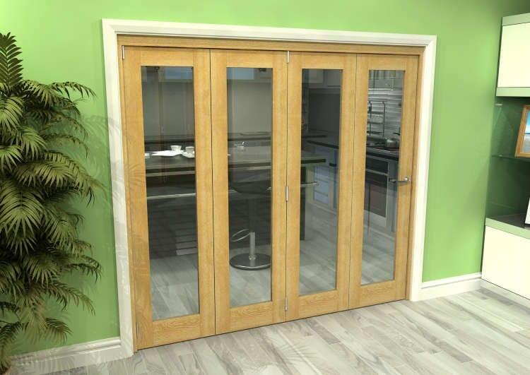 Glazed Oak 4 Door Roomfold Grande (4 + 0 X 533mm Doors) Image