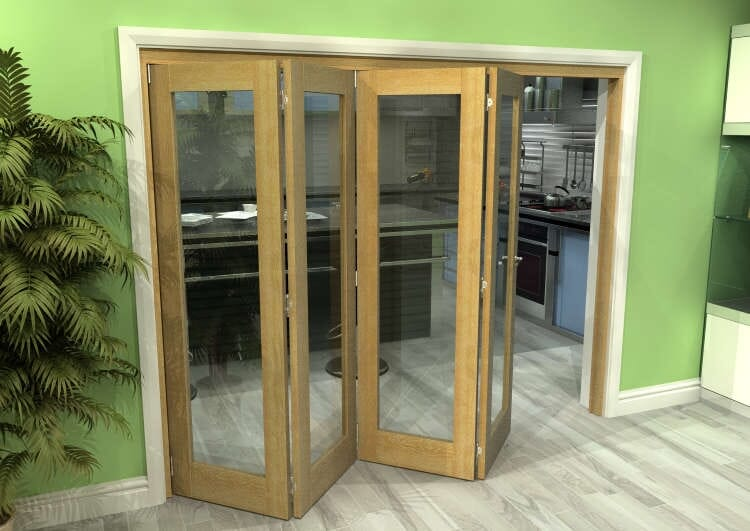 Glazed Oak 4 Door Roomfold Grande (4 + 0 X 610mm Doors) Image