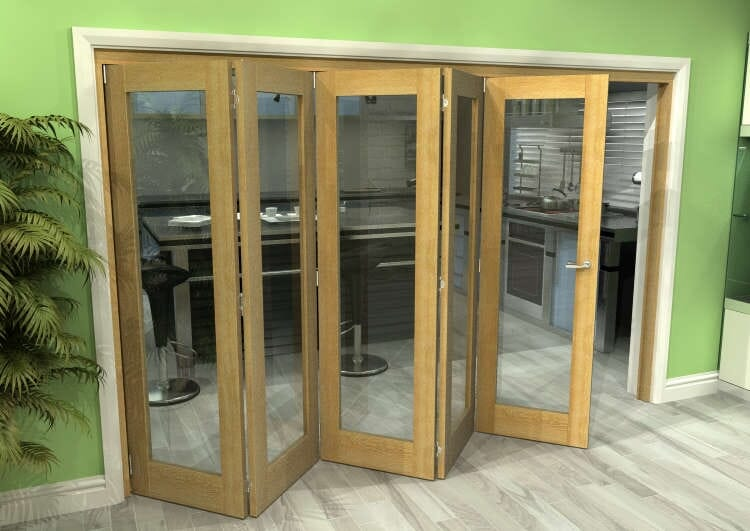 Glazed Oak 5 Door Roomfold Grande (5 + 0 X 762mm Doors) Image