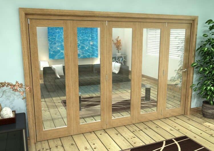 Glazed Oak Prefinished 5 Door Roomfold Grande (5 + 0 X 610mm Doors) Image