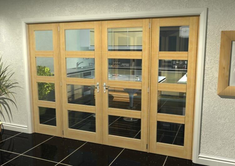 "Oak 4l French Door Set - 30"" Pair + 2 X 24"" Sidelights Image"