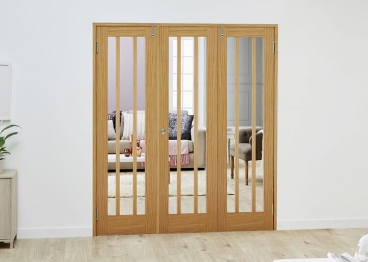 Lincoln Oak - 3 Door Frenchfold (3 X 610mm Doors ) Image
