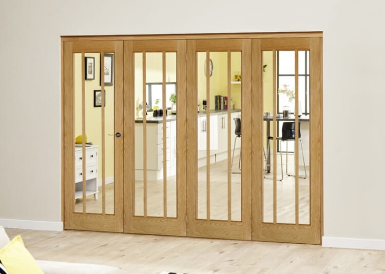 Lincoln Oak 4 Door Roomfold Deluxe (4 X 762mm Doors) Image