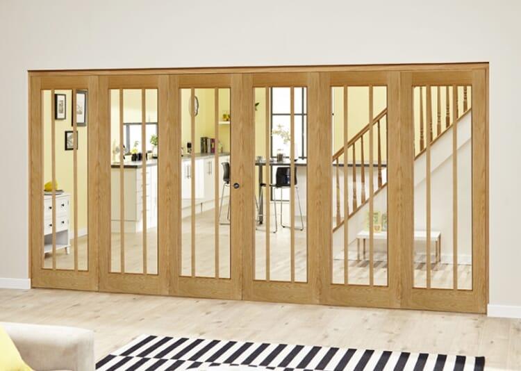 Lincoln Oak 6 Door Roomfold Deluxe (3 + 3 X 686mm Doors) Image