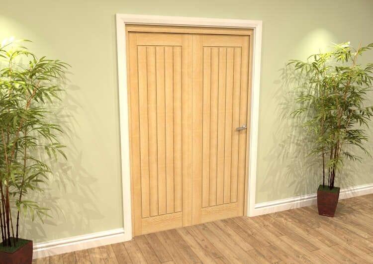 Mexicano Oak 2 Door Roomfold Grande (2 + 0 X 610mm Doors) Image