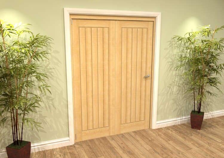 Mexicano Oak 2 Door Roomfold Grande (2 + 0 X 762mm Doors) Image