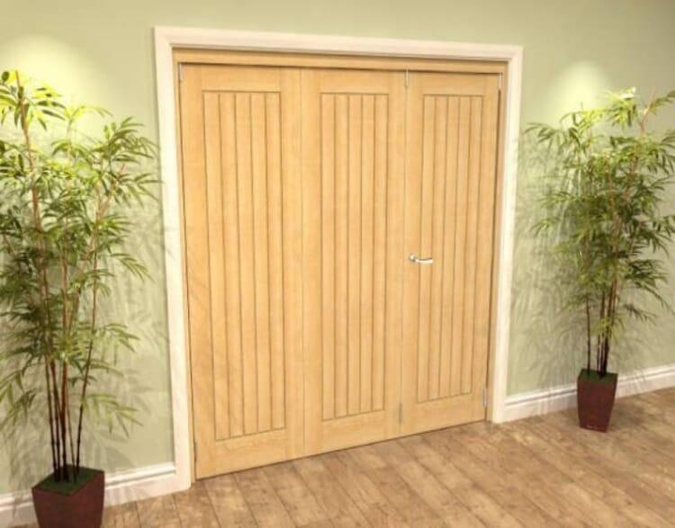 Mexicano Oak 3 Door Roomfold Grande (2 + 1 X 610mm Doors) Image
