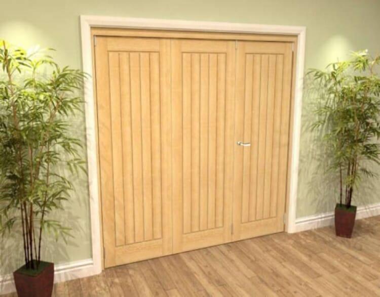Mexicano Oak 3 Door Roomfold Grande (2 + 1 X 762mm Doors) Image