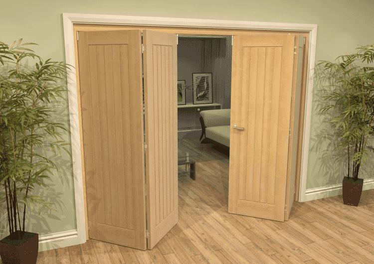 Mexicano Oak 4 Door Roomfold Grande (2 + 2 X 610mm Doors) Image