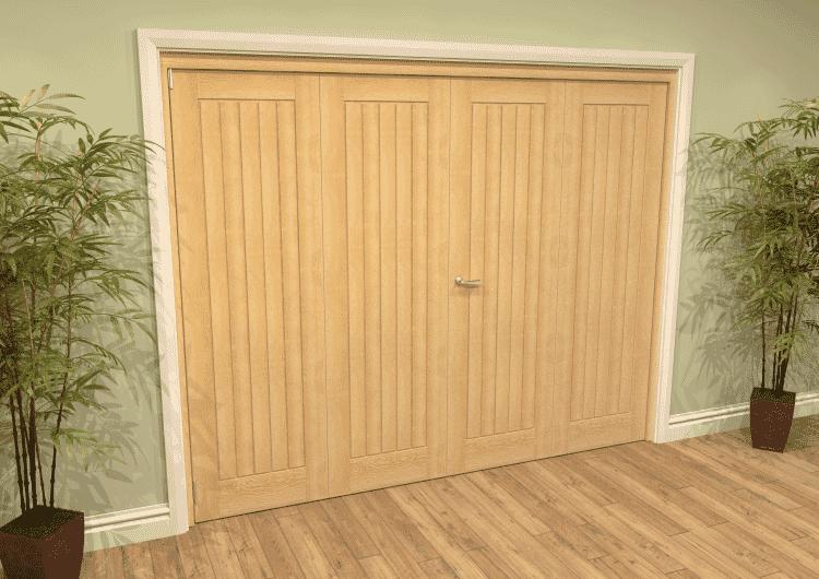 Mexicano Oak 4 Door Roomfold Grande (2 + 2 X 762mm Doors) Image