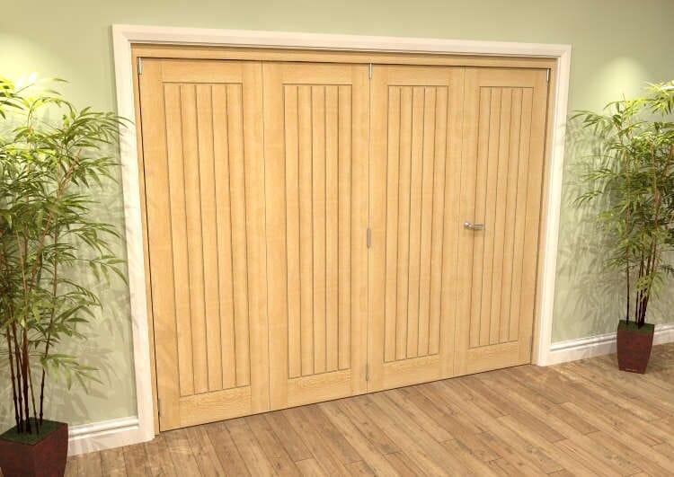 Mexicano Oak 4 Door Roomfold Grande (3 + 1 X 610mm Doors) Image