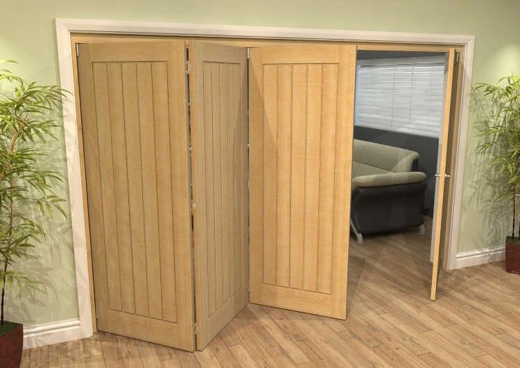 Mexicano Oak 4 Door Roomfold Grande (3 + 1 X 762mm Doors) Image