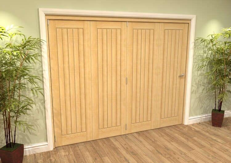 Mexicano Oak 4 Door Roomfold Grande (4 + 0 X 610mm Doors) Image