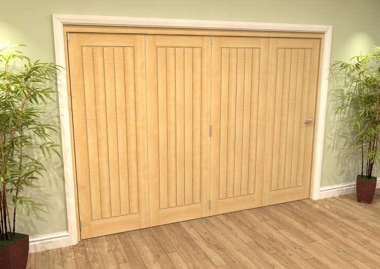 Mexicano Oak 4 Door Roomfold Grande (4 + 0 X 686mm Doors) Image