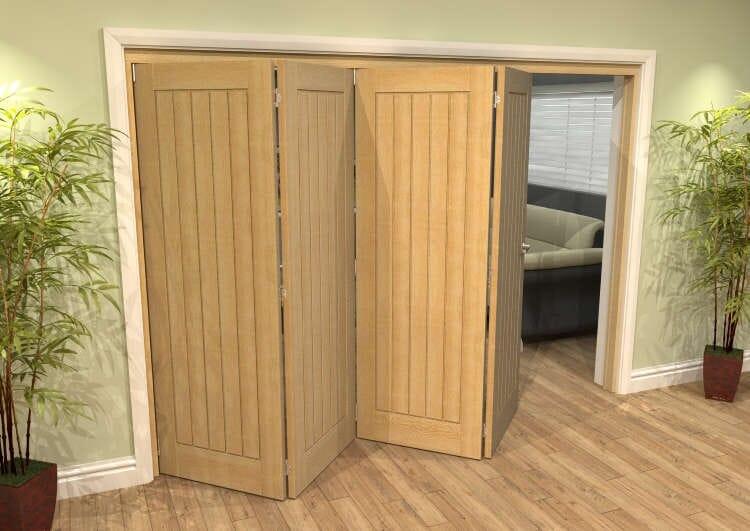 Mexicano Oak 4 Door Roomfold Grande (4 + 0 X 762mm Doors) Image