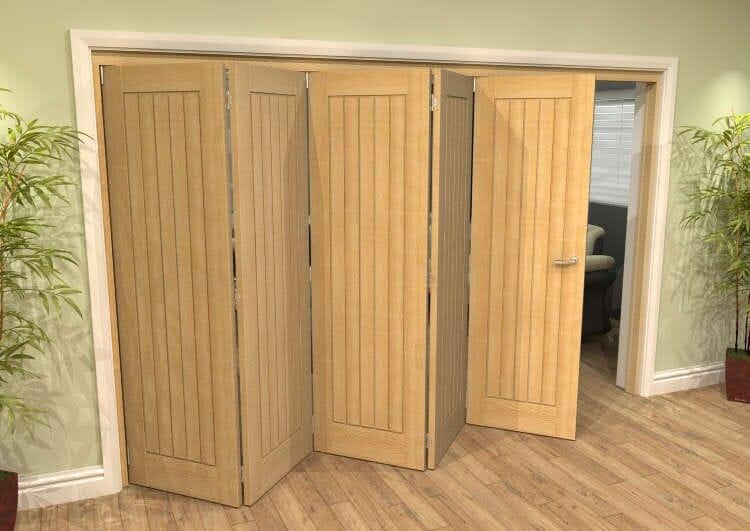 Mexicano Oak 5 Door Roomfold Grande (5 + 0 X 610mm Doors) Image