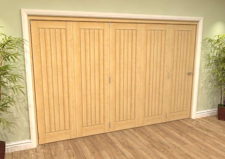 Mexicano Oak 5 Door Roomfold Grande (5 + 0 X 686mm Doors) Image