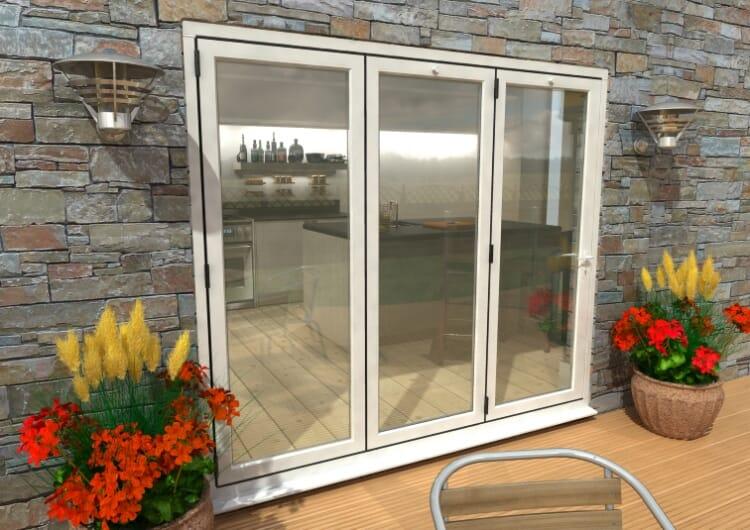 Part Q 2400mm White Aluminium Bifold Doors - Climadoor Image