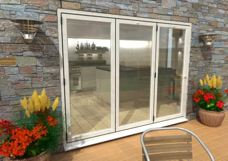 Part Q 2700mm White Aluminium Bifold Doors - Climadoor Image