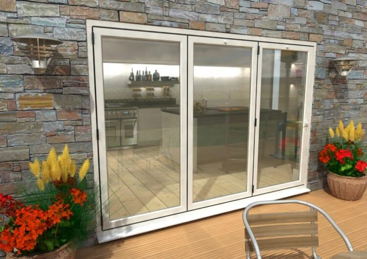 Part Q 3000mm ( 3 + 0 ) White Aluminium Bifold Doors - Climadoor Image