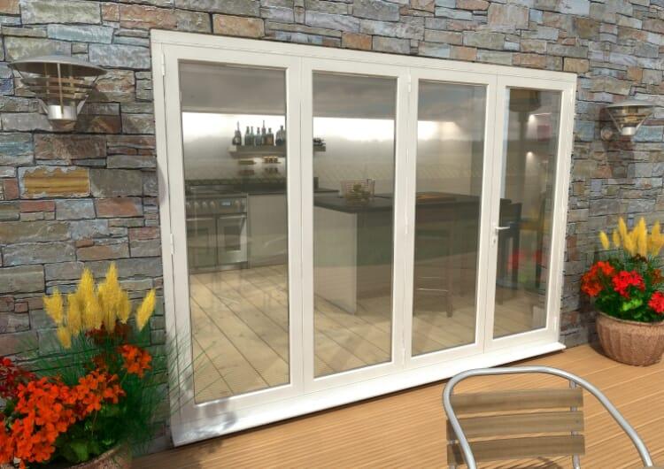 Part Q 3000mm ( 3 + 1 ) White Aluminium Bifold Doors - Climadoor Image