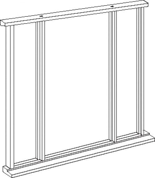 Universal Hardwood Vestibule - Single Leaf Up To 84 X 36 Image