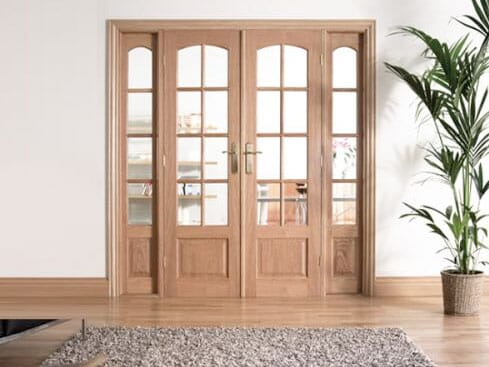 W6 Oak Room Divider Set With Sidelights Image