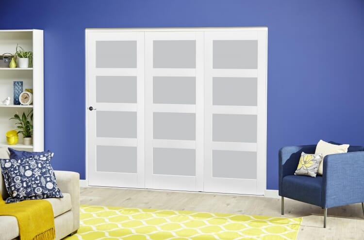 White 4l Frosted Roomfold Deluxe ( 3 X 533mm Doors ) Image