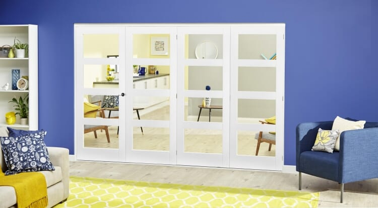 White 4l Roomfold Deluxe ( 4 X 762mm Doors ) Image