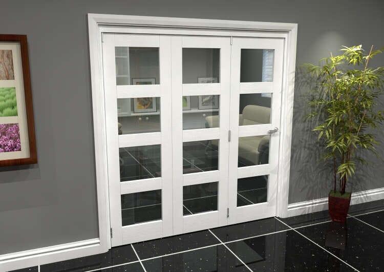 White 4l Roomfold Grande 1800mm (6ft) 3 + 0 Set Image