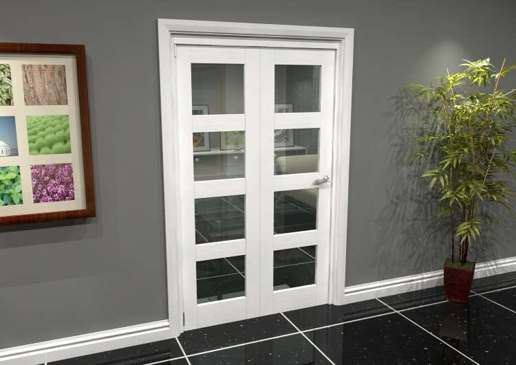 White 4l Roomfold Grande (2 + 0 X 610mm Doors) Image