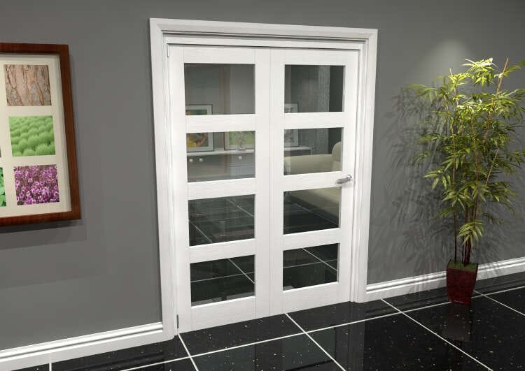 White 4l Roomfold Grande (2 + 0 X 762mm Doors) Image