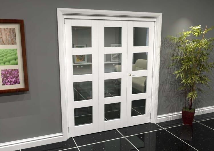 White 4l Roomfold Grande (2 + 1 X 610mm Doors) Image