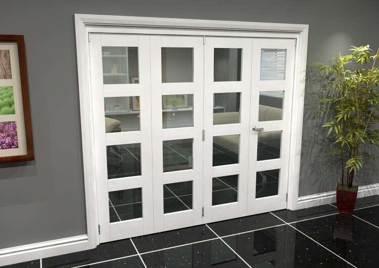 White 4l Roomfold Grande 2400mm (8ft) 3 + 1 Set Image