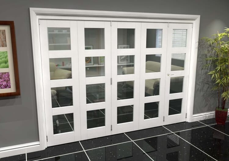 White 4l Roomfold Grande (4 + 1 X 610mm Doors) Image
