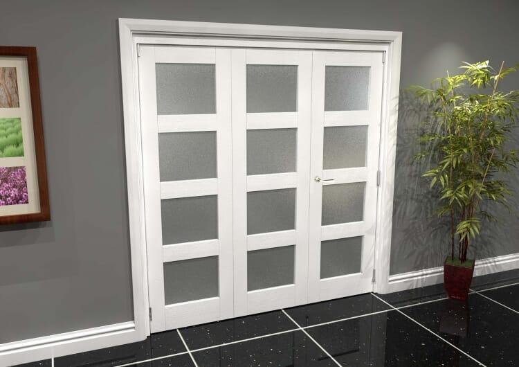 White Frosted 4l Roomfold Grande 1800mm (6ft) 2 + 1 Set Image