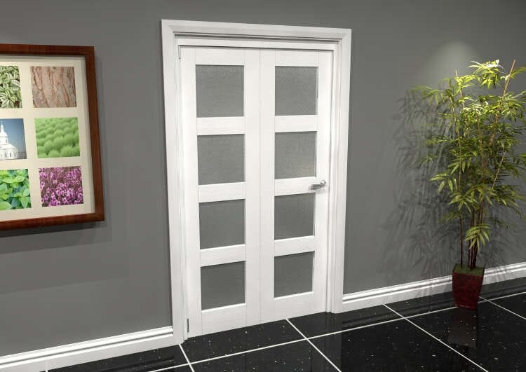 White Frosted 4l Roomfold Grande (2 + 0 X 533mm Doors) Image