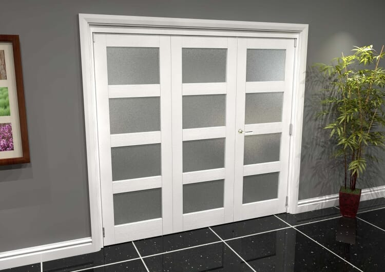 White Frosted 4l Roomfold Grande (2 + 1 X 686mm Doors) Image