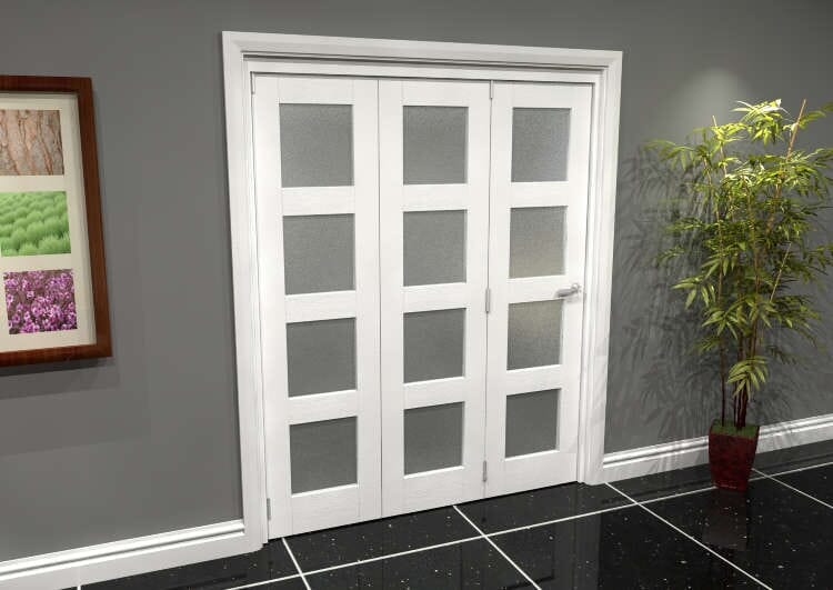 White Frosted 4l Roomfold Grande (3 + 0 X 533mm Doors) Image