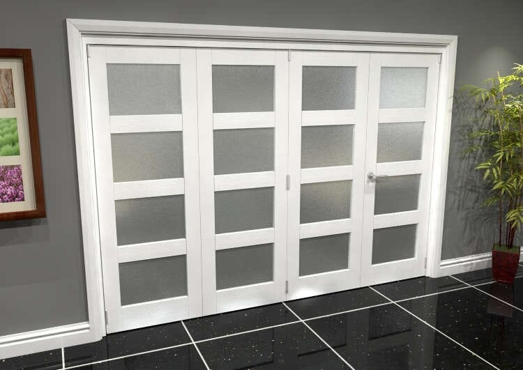White Frosted 4l Roomfold Grande (3 + 1 X 686mm Doors) Image