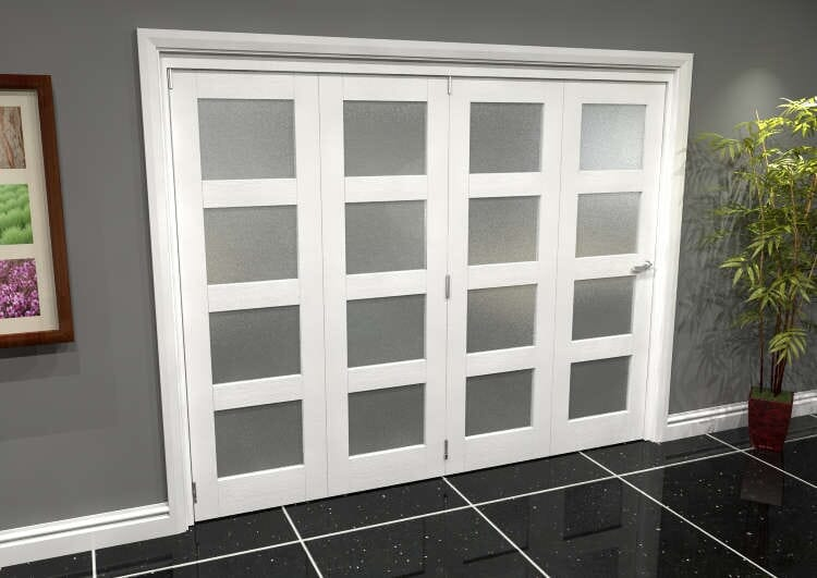 White Frosted 4l Roomfold Grande (4 + 0 X 610mm Doors) Image
