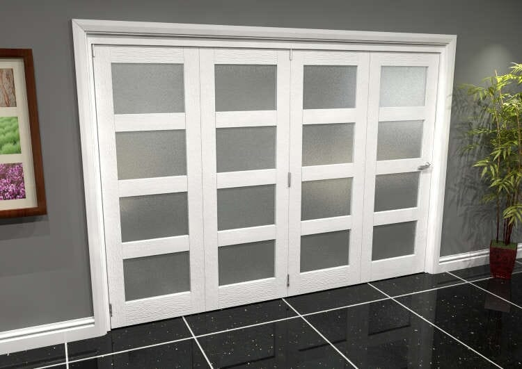 White Frosted 4l Roomfold Grande (4 + 0 X 686mm Doors) Image